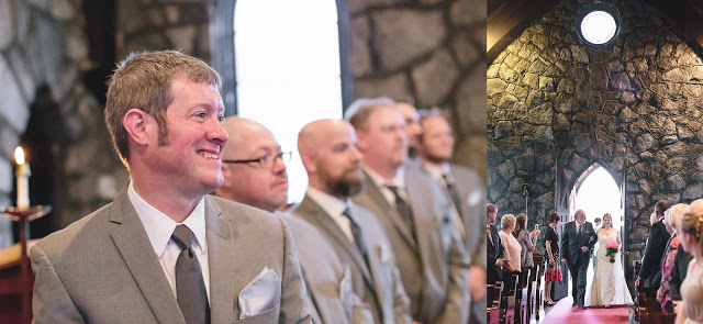 Groom smiling Wedding Ceremony