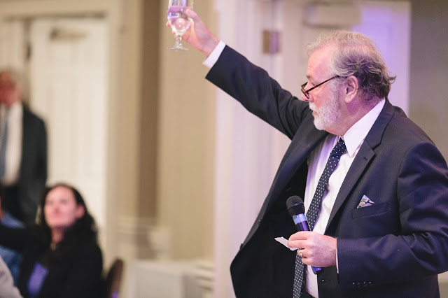 Wedding Reception toast to bride and groom