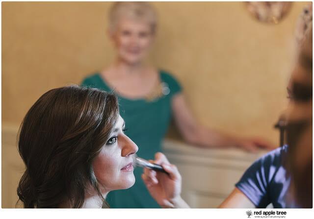 Sarah getting her Wedding Makeup on