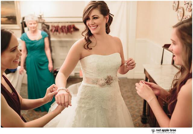 Sarah with Wedding Bracelet