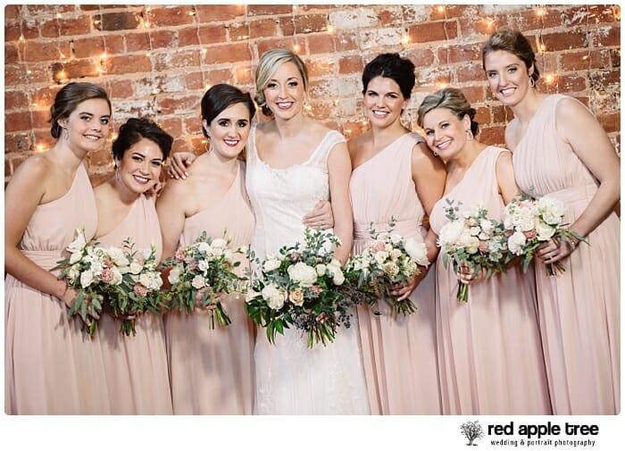 Wedding Portrait with bride and bridesmaids