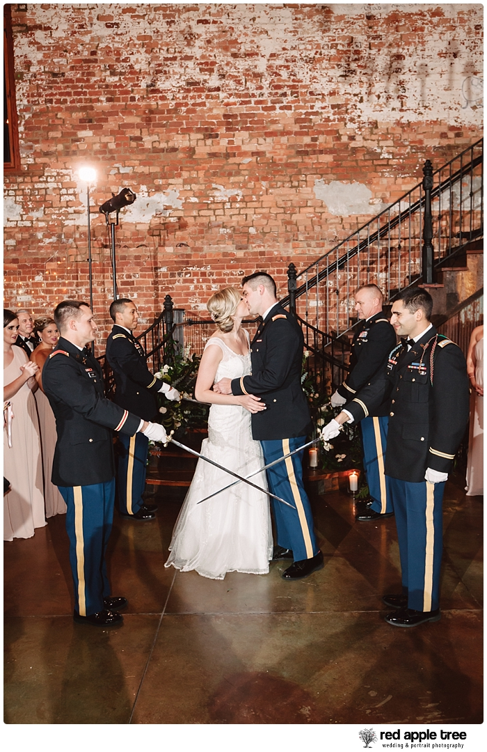 Bride and Groom with Marines
