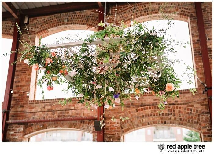 Floral wedding chandelier