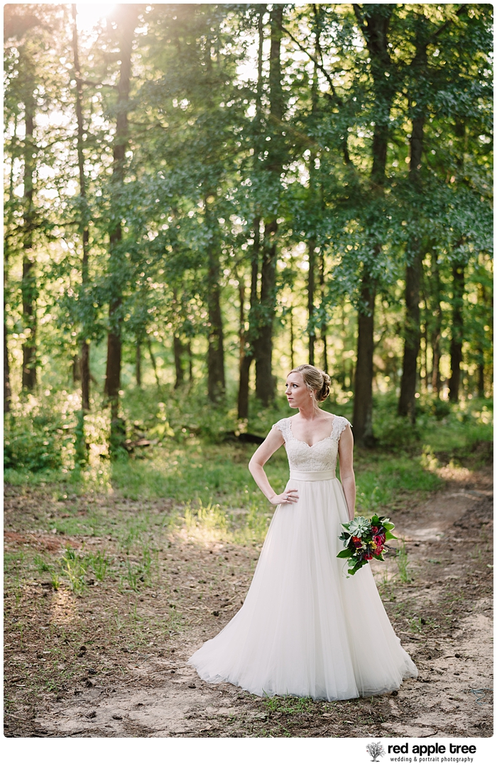 Bridal Portrait Bride and trees