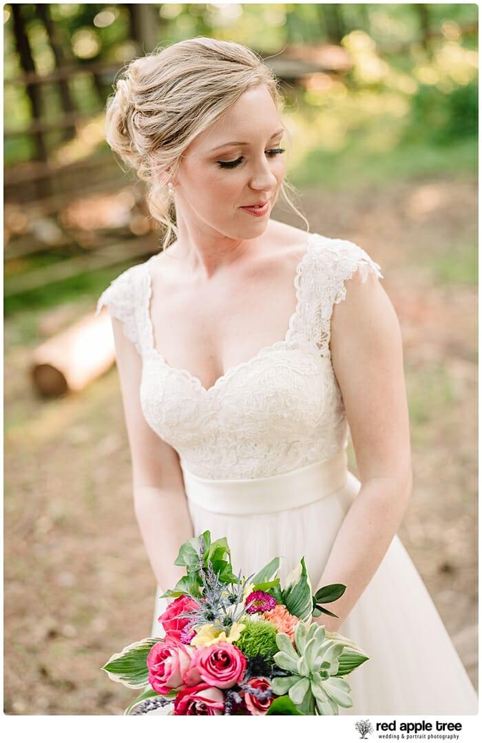 Bridal Portrait Bride with bouquet 2