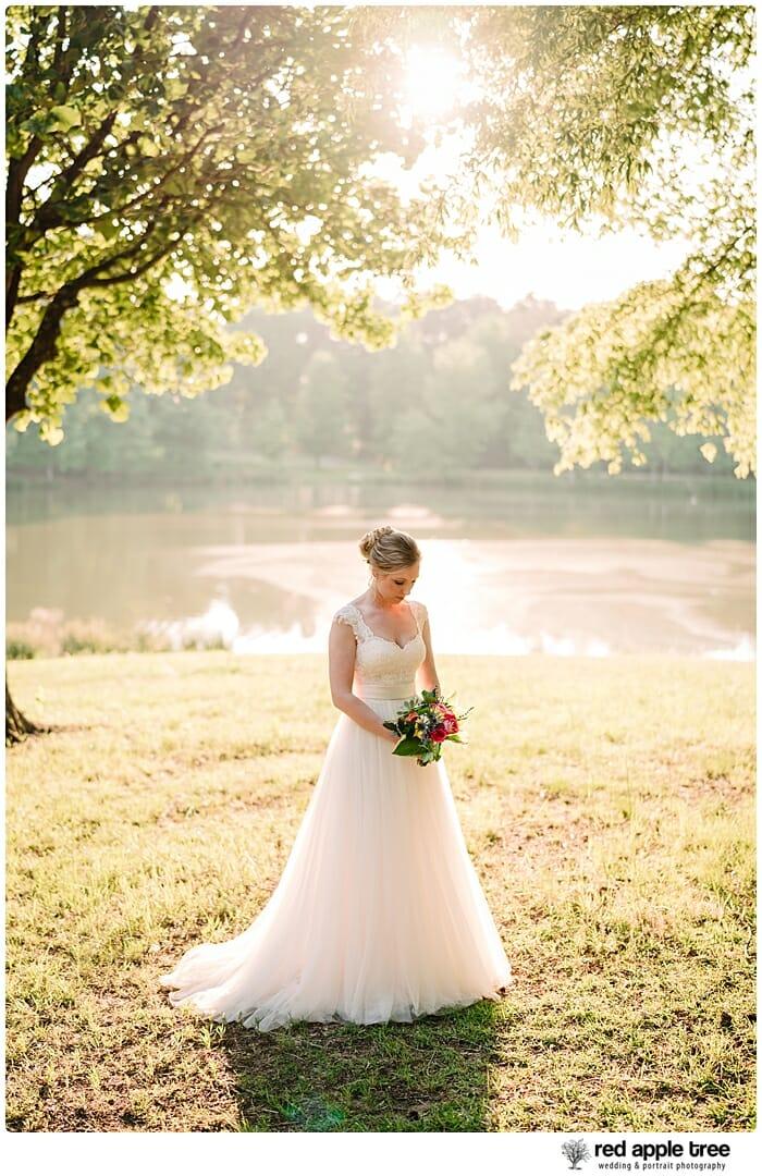 Bridal Portrait at lake 1