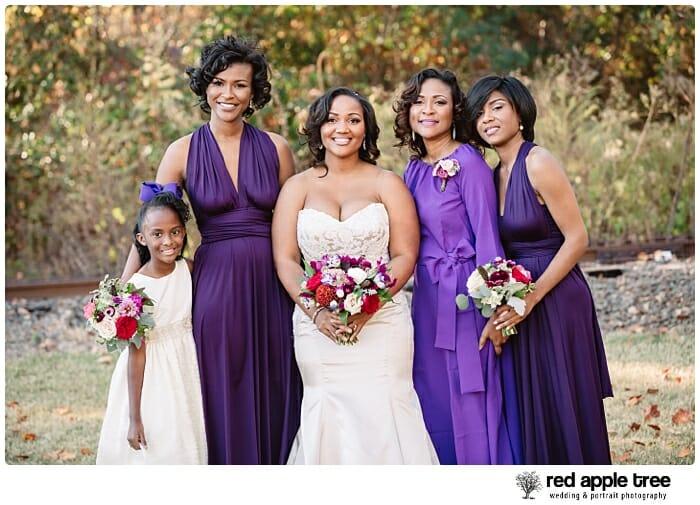 Wedding Portrait with Bridesmaids