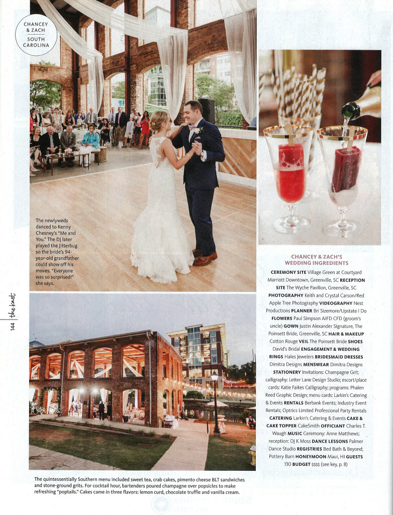 What a beautiful magazine feature! The Knot The Carolinas